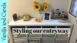 Changing things up/Styling & Organising our entryway - VLOGTOBER day 9
