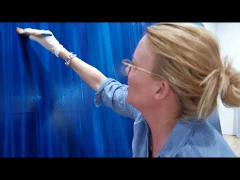 Laurel Holloman installation  with John Wilson 3