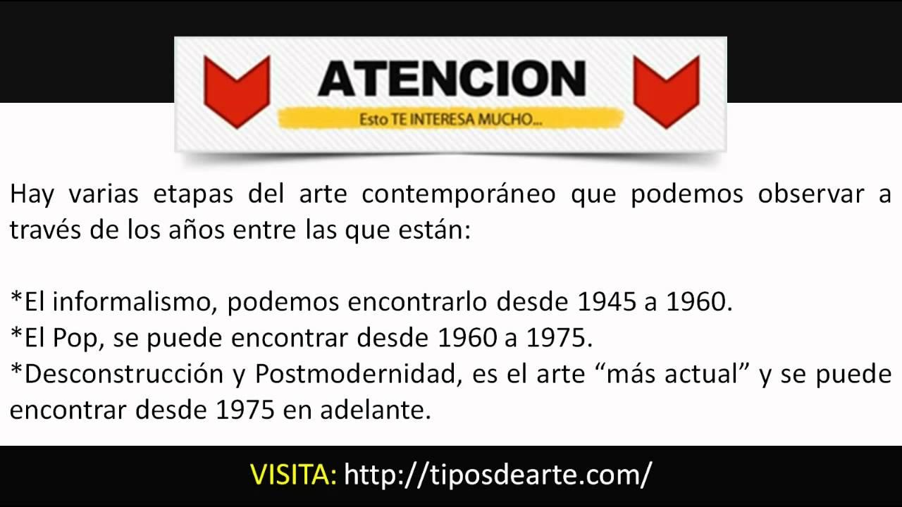 Arte contempor neo historia definici n pinturas y obras for Caracteristicas del contemporaneo