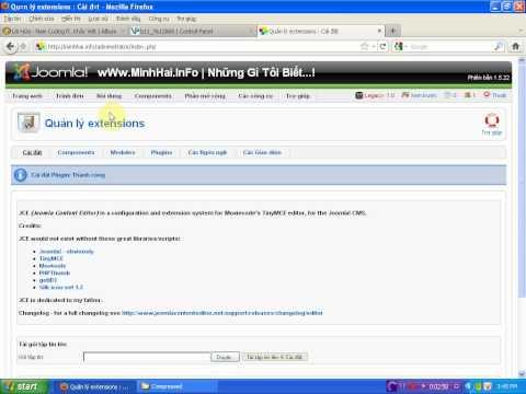Hướng dẫn cài đặt trình soạn thảo JCE Editor trong Joomla 1.5 - By wWw.MinhHai.InFo