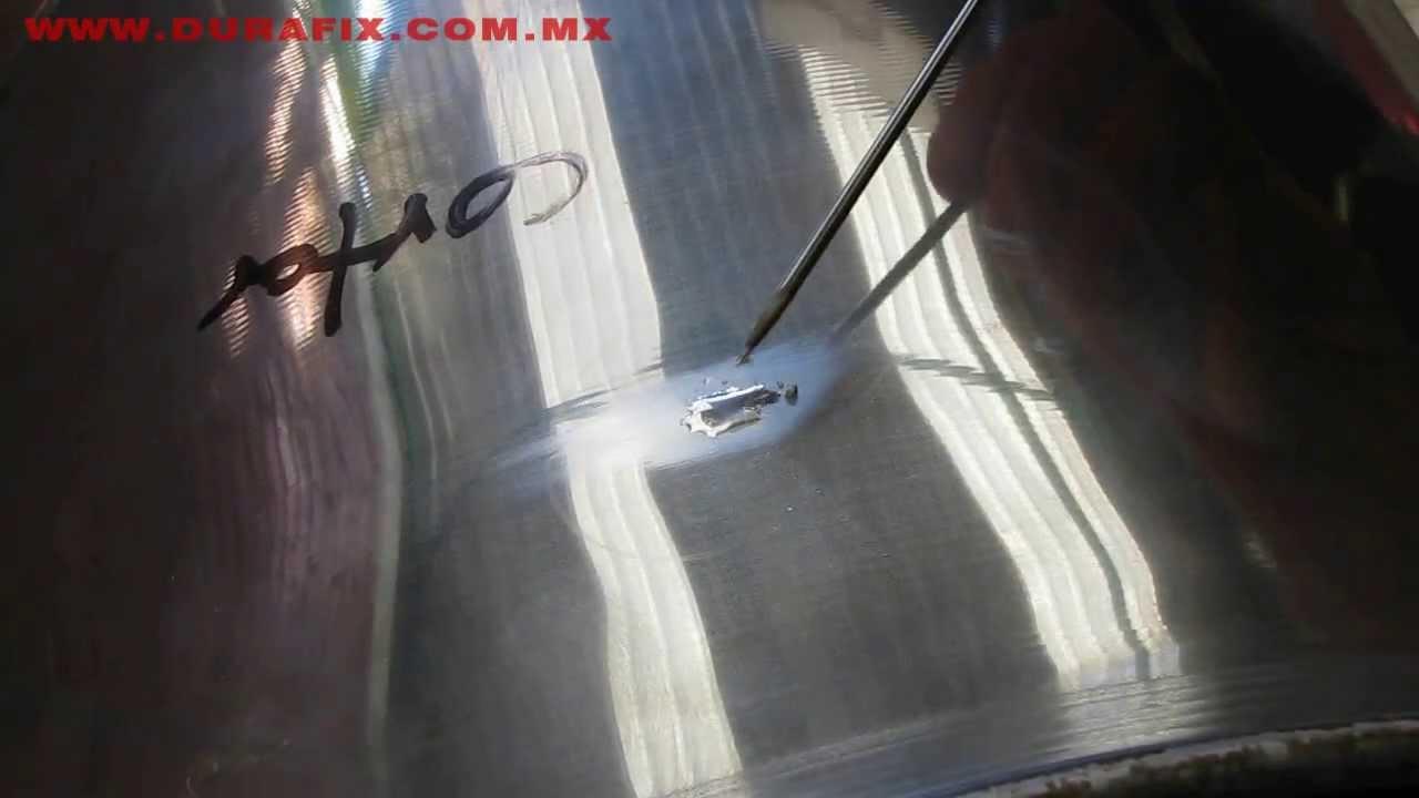 Reparacion de olla aluminio youtube for Como soldar cobre