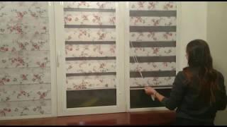 видео Кассетные шторы Зебра