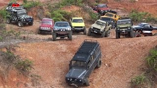 Scale Trucks Offroad Adventures RC Toyota Hilux Land Rover Defender 110 Jeep Wrangler RC4WD
