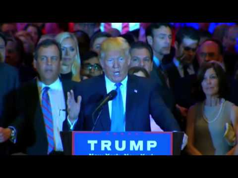 Donald Trump Victory Speech Primary Night 4-26-2016