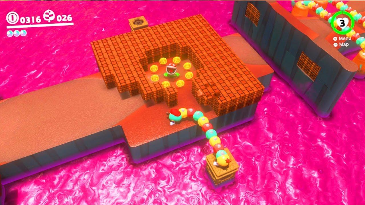 Super Mario Odyssey Tropical Wiggler Gameplay Youtube
