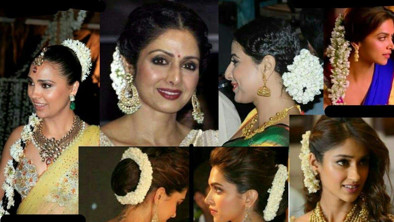 5 best bollywood gajra hairstyles || easiest way to create gajra hairstyles | stylopedia