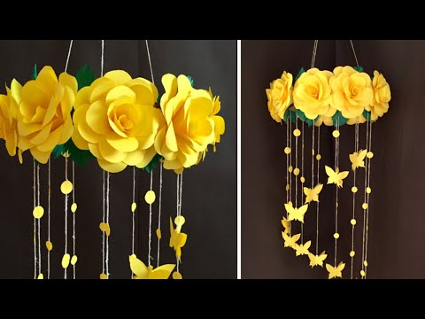 Paper Rose Flower Wall hanging | Home Decor Ideas