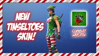 FIRST LOOK AT THE *NEW* TINSELTOES SKIN IN FORTNITE! (MERRY CHRISTMAS)