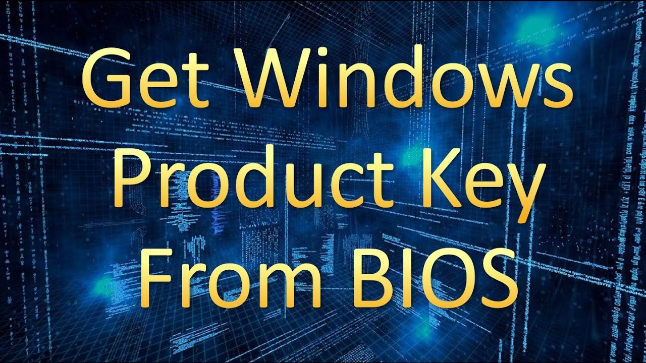 how to find the windows 10 product key in bios