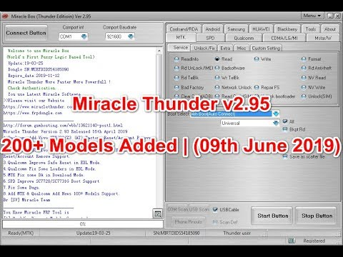 Latest Update Miracle Thunder V2.95 200+ Models Added | (09th June 2019)