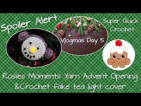 Vlogmas Day 5 Rosies Moments Yarn Advent Opening plus Crochet tutorial thumbnail
