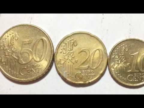 Euro Cent Coins 102050 Cents Of Netherlands