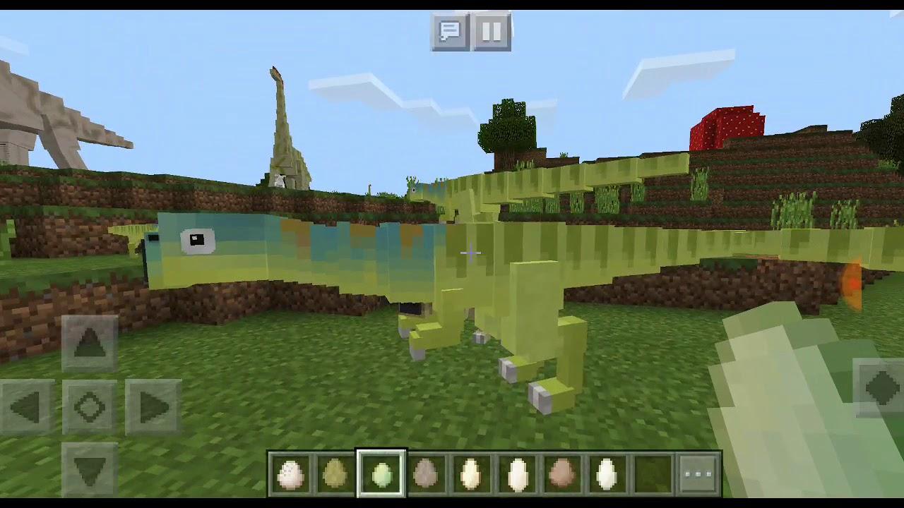 Обзор мода на динозавров в Майнкрафт пе 18 Обзор аддона