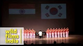 Korean children sing Indian National Song - Vande Mataram