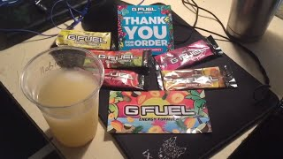 Gfuel 5 Flavor Pack Taste Test Review!