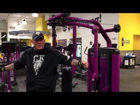 Planet Fitness Chest Fly Machine - How to use the chest fly and rear delt exercise machine