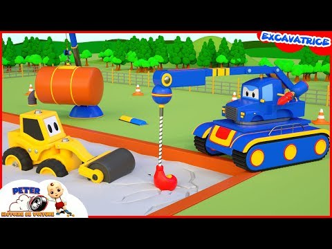 #MiniPelle, Camion Benne - Machine De Ciment De Crash Pour Les Enfants