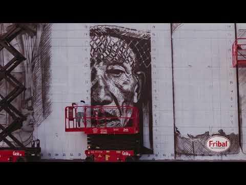 Obra do Eduardo Kobra em São Luís (MA) Time Lapse