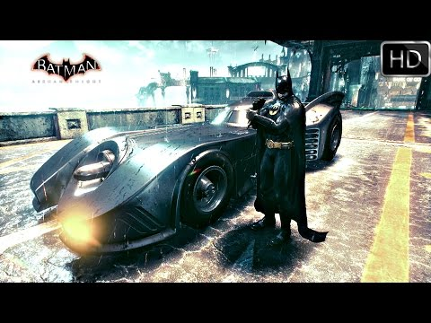 Batman Arkham Knight: 1989 Batmobile Free Roam Gameplay HD