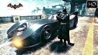 Batman Arkham Knight: 1989 Batmobile Free Roam Gameplay HD