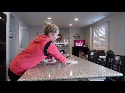 BUSY MOM KITCHEN CLEAN WITH ME I Stay at home mom cleaning routine