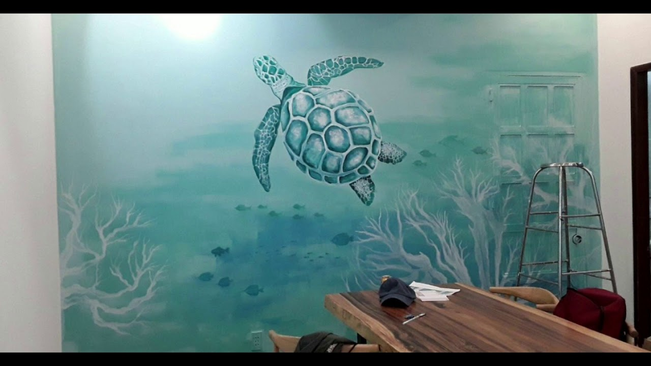 Vẽ tranh tường phòng ngủ cho bé – Trần Vũ ART