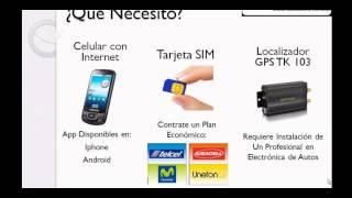 Video del Localizador GPS para Vehículos