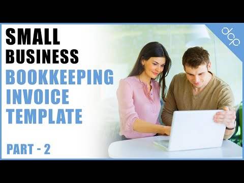 bookkeeping for small business tutorial part 2 - open office calc spreadsheets - invoice template