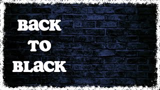 Holly Tatnall - Back to Black (Lyric Visualizer) (Amy Winehouse cover)