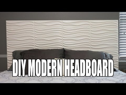 DIY MODERN HEADBOARD | 3D WALL PANEL HEADBOARD