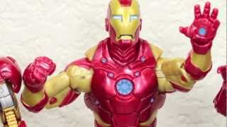 Marvel Legends Heroic Age Iron Man Bleeding Edge Armor Iron Monger BAF Wave Figure Review