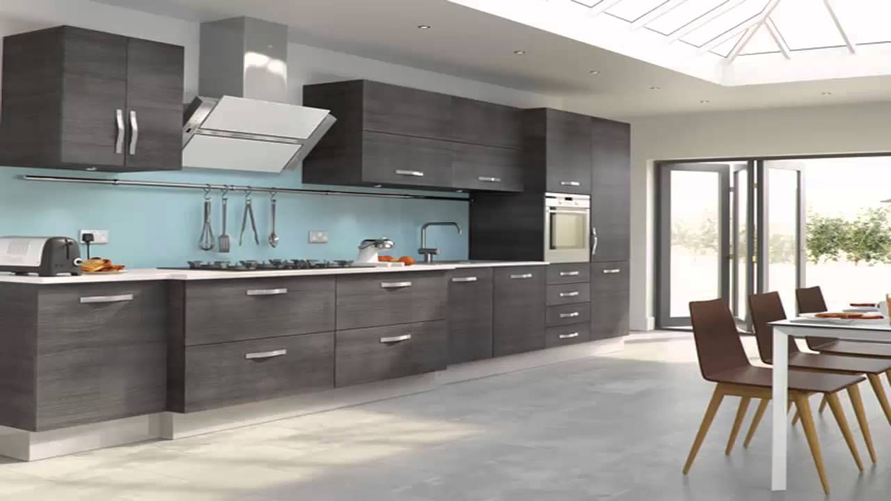 مطابخ لون رمادي Kitchens Gray Color YouTube - Blue and grey kitchen ideas