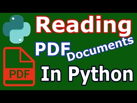 How To Read PDF Documents In Python