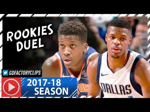 Frank Ntilikina vs Dennis Smith Jr. ROOKIES Duel Highlights (2018.01.07) Knicks vs Mavs - SICK!