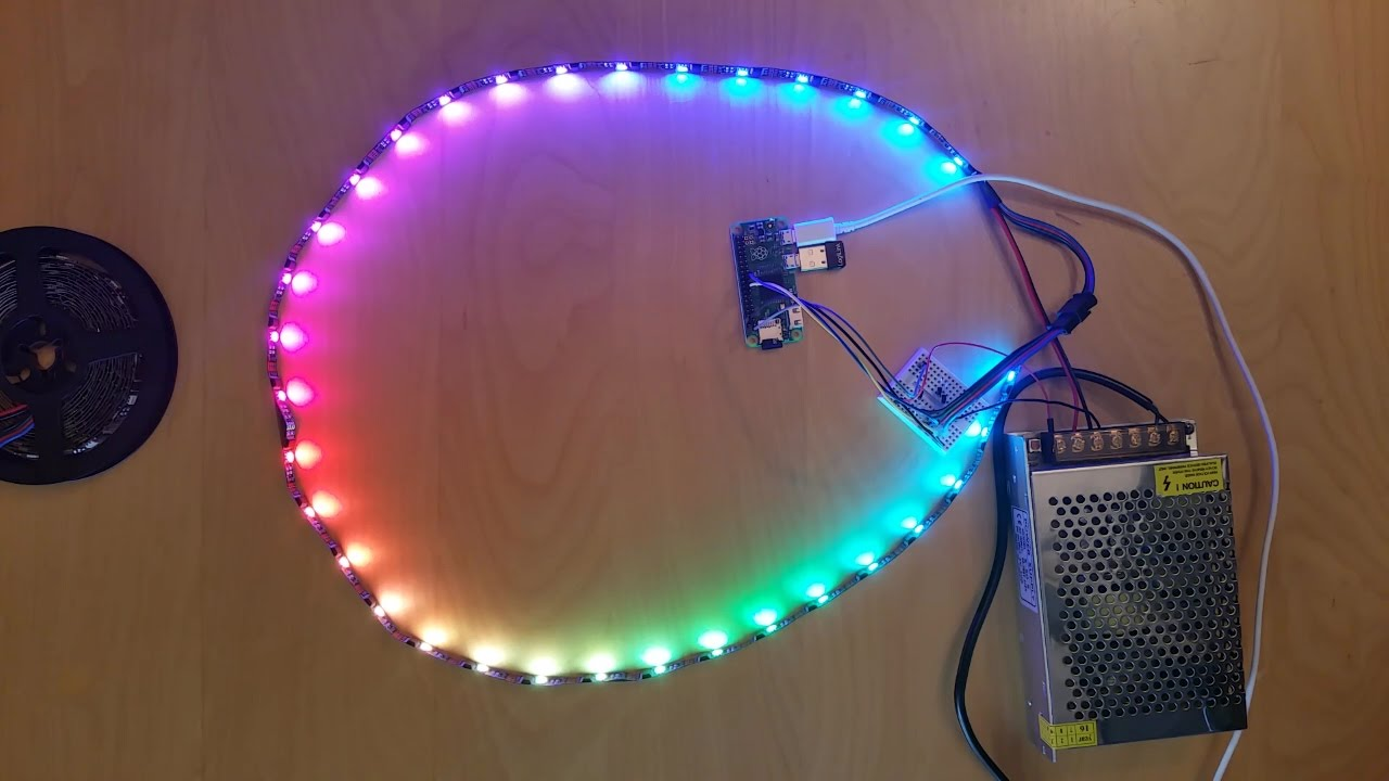 designer fashion 0ca90 12cc3 Raspberry Pi: WS2801B RGB LED Strip Color Effects