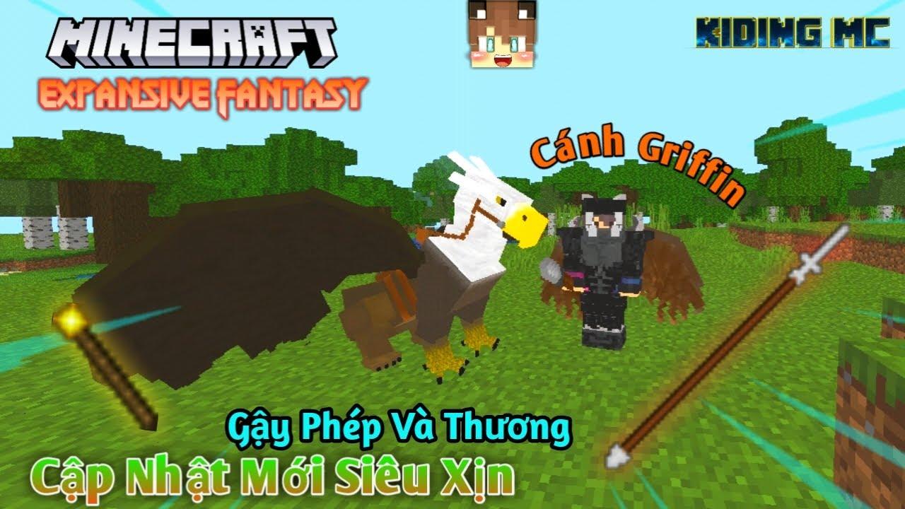 Review Mod Addon Kỵ Sĩ Rồng 2.0 Bản Cập Nhật Vũ Khí Mới Và Thú Mới Cho Mcpe 1.14,1.15 | KIDING MC