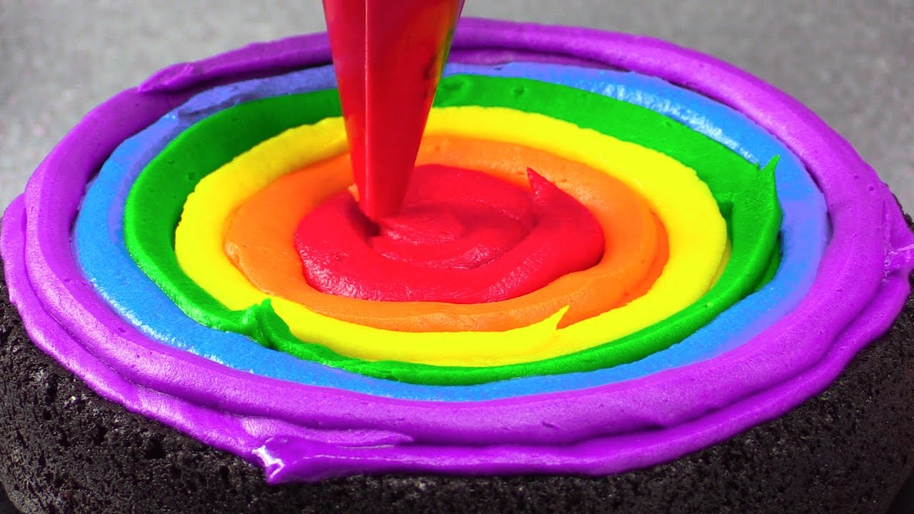 Amazing Rainbow Cakes: Most Satisfying Cake Decorating ... - photo#32