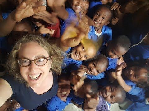 Sophie volontaire EDF à Mahambo 2019