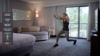 TheraBand CLX - Forward Lunge - Hotel Exercise