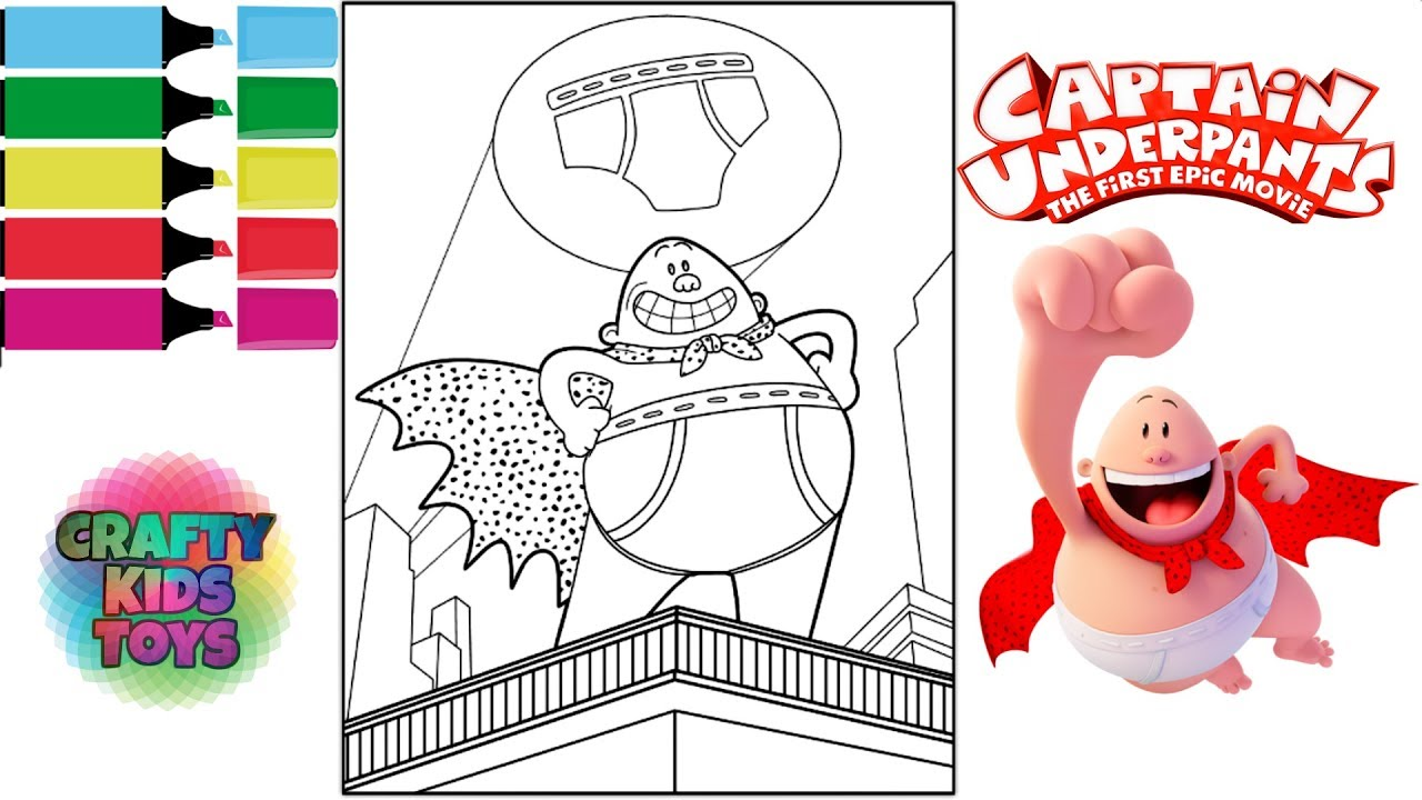 Captain Underpants The First Epic Movie Coloring Book Color Pages
