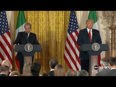 President Donald Trump full remarks with Italian PM Paolo Gentiloni at White House news conference