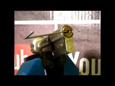 Взлом отмычками Mul-T-Lock   Single Pin Picking A Faulty Pin In Pin Mul-T-Lock From Work