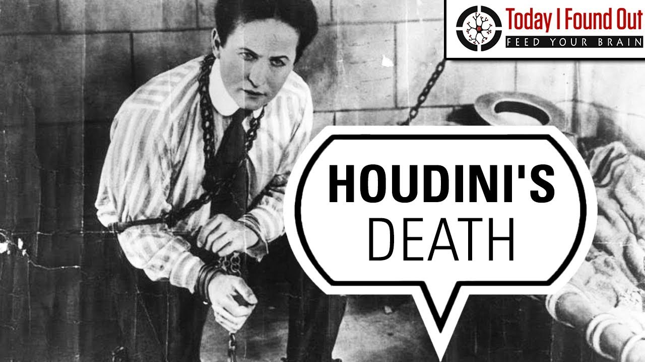 How Did Harry Houdini Actually Die? - YouTube