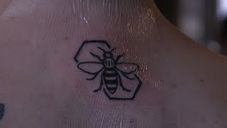 The power of the bee tattoo one year since Manchester Arena attack   ITV News