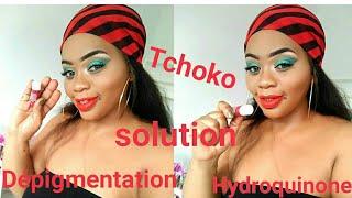 ❤TRAITEMENT des  TACHES d' HYPERPIGMENTATION/Dépigmentation due  à l'hydroquinone,à l'acné...