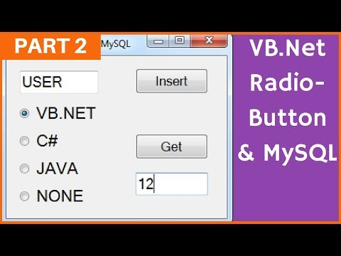 VB.Net - How To Use RadioButton With MySQL Database In Visual Basic .Net [ with source code ] Part 2