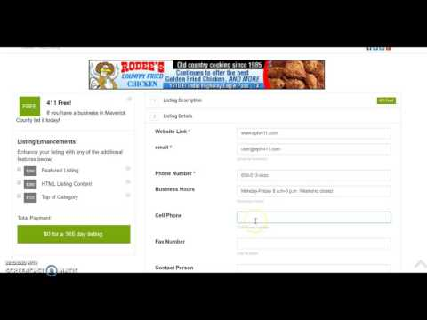 How to Get A Free Business Listing