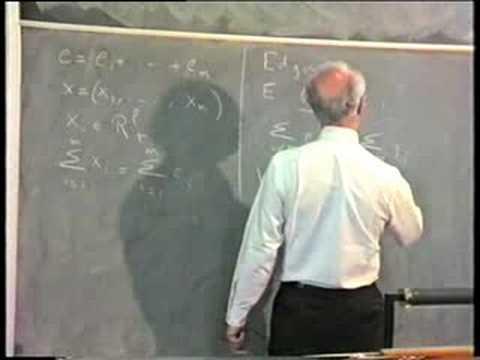 Gerard Debreu: Lecture 4 on Economic Theory (1987)