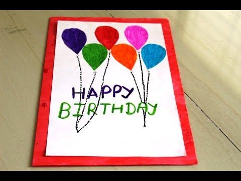 Diy Happy Birthday Card Paper Birthday Card Origami Kids Card