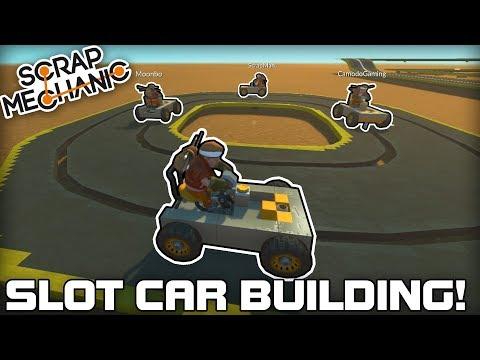 Multiplayer Slot Car Building Challenge! (Scrap Mechanic #194)